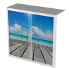 Easy Office Tambour Cupboard 100cm H with 2 shelves Beach4