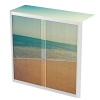 Easy Office Tambour Cupboard 100cm H with 2 shelves Beach2