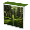 Easy Office Tambour Cupboard 100cm H with 2 shelves Forest1