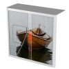 Easy Office Tambour Cupboard 100cm H with 2 shelves TransportSmallboat