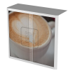 Easy Office Tambour Cupboard 100cm H with 2 shelves FoodCoffeecup