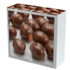 Easy Office Tambour Cupboard 100cm H with 2 shelves FoodChocolate
