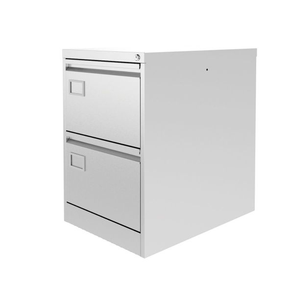 Silverline Executive Filing Cabinet 2 drawer Executive foolscap 711Hx458Wx620mmD FCEX2F