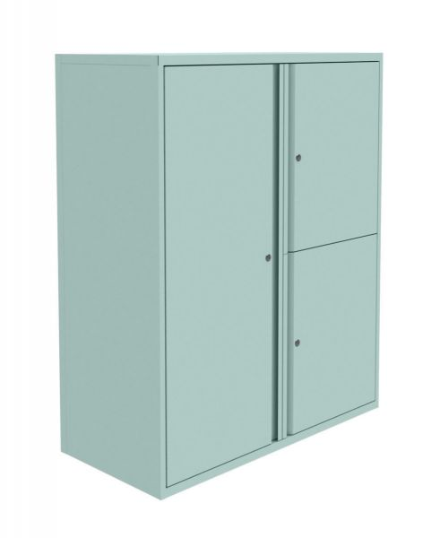 Silverline Freedom Swan Neck Cupboard and Large Personal Locker Right hand 997mmH x 800mmW x 470mmD HDCULCCS30OW