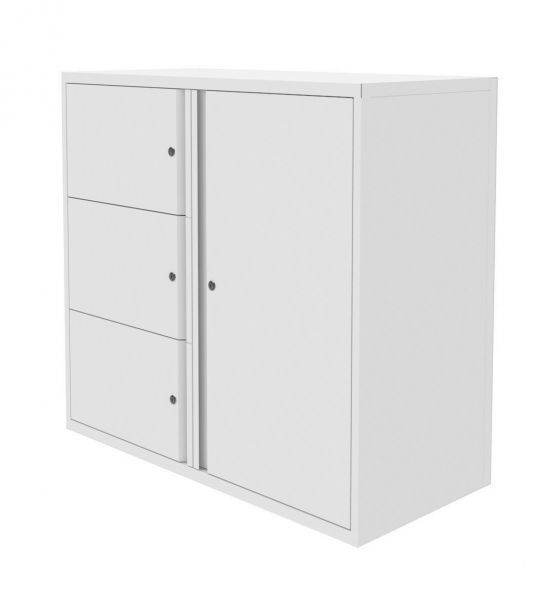 Silverline Freedom Swan Neck Cupboard and Personal Drawers  Left hand 997mmH x 1000mmW x 470mmD HDCUPCS30SD