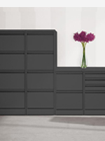 Black 2,3 and 4 drawer filing cabinets