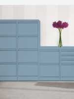 Blue 2,3 and 4 drawer filing cabinets