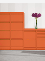 Orange 2,3 and 4 drawer filing cabinets