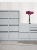 Silver 2,3 and 4 drawer filing cabinets