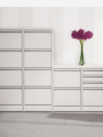 White 2,3 and 4 drawer filing cabinets