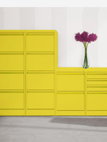Yellow 2,3 and 4 drawer filing cabinets