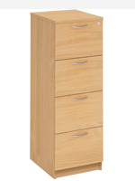 4 Drawer Wooden Filing Cabinets