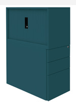 Silverline HD Storage drawers and cupboards in one unit